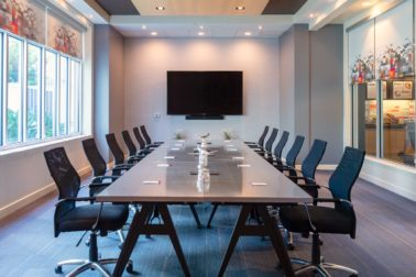Large conference office space for events at Aloft Tampa Downtown